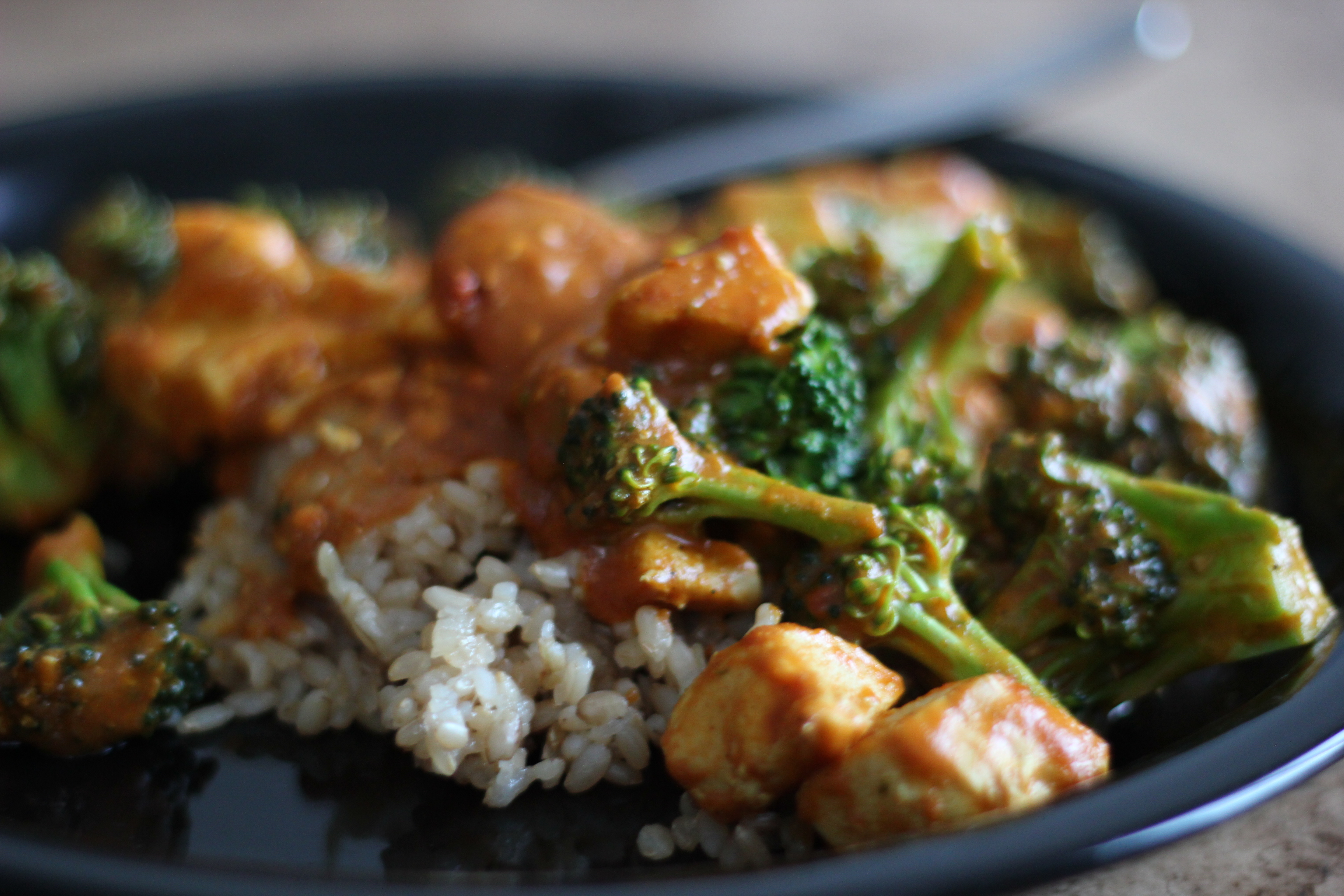 coconut curry chicken with broccoli